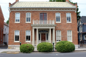 Be Well's location in downtown Martinsburg. A historic, well-kept building.